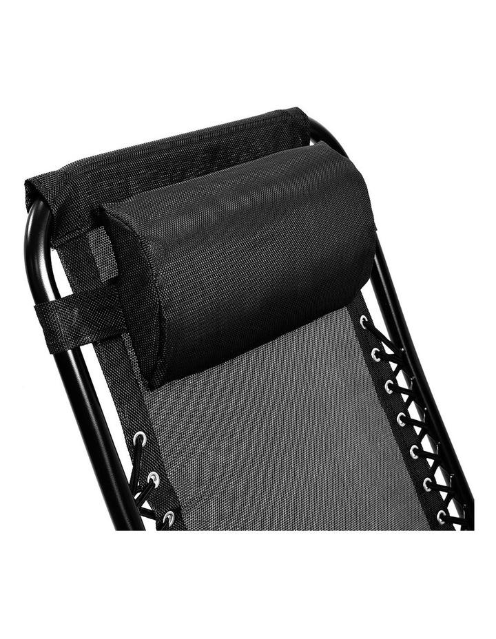 Zero Gravity Reclining Deck Lounge Sun Beach Chair Outdoor Folding Camping Black image 4