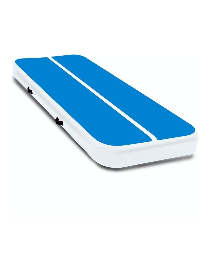 4m Inflatable Air Track Floor Exercise Gym Gymnastics Tumbling Mat Yoga - Blue White image 1