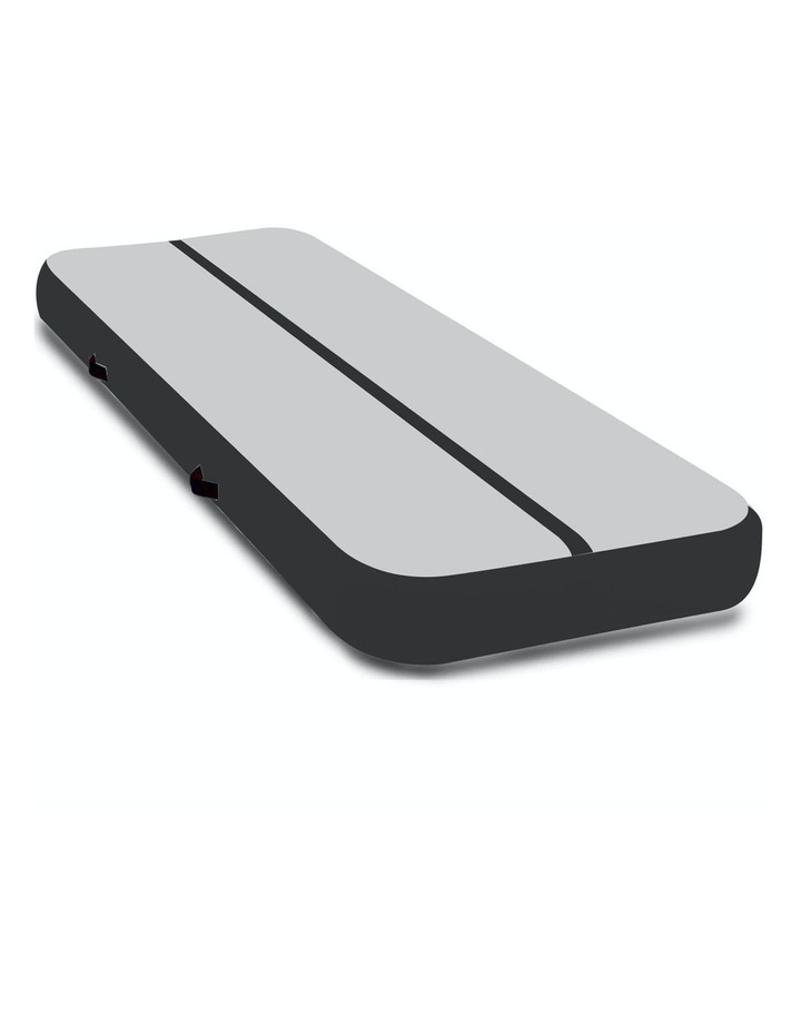 4m Inflatable Air Track Floor Exercise Gymnastics Tumbling Mat Yoga - Grey Black image 1