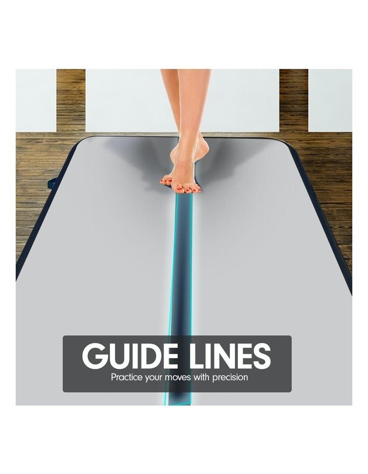 4m Inflatable Air Track Floor Exercise Gymnastics Tumbling Mat Yoga - Grey Black image 4