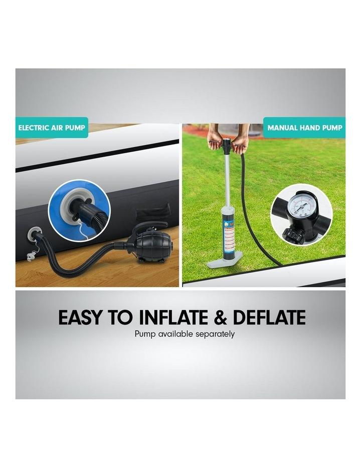 4m Inflatable Air Track Floor Exercise Gymnastics Tumbling Mat Yoga - Grey Black image 7