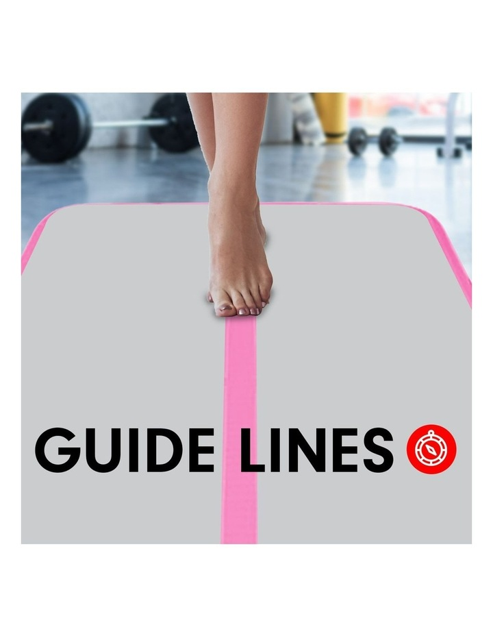 6m Airtrack Tumbling Mat Gymnastics Exercise 20cm Air Track - Pink image 4