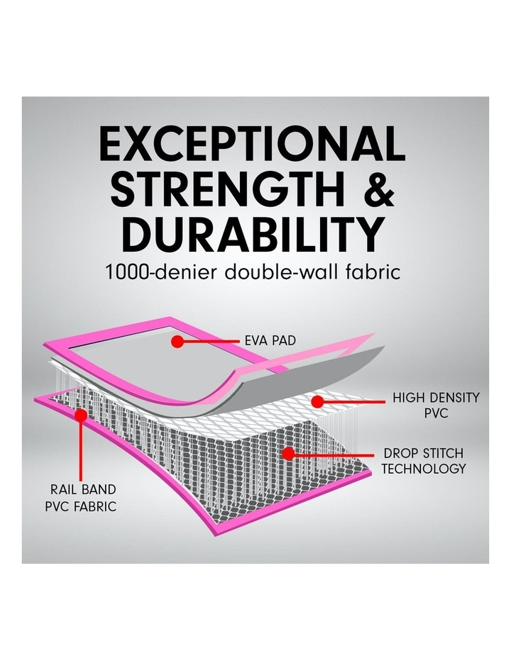 6m Airtrack Tumbling Mat Gymnastics Exercise 20cm Air Track - Pink image 7