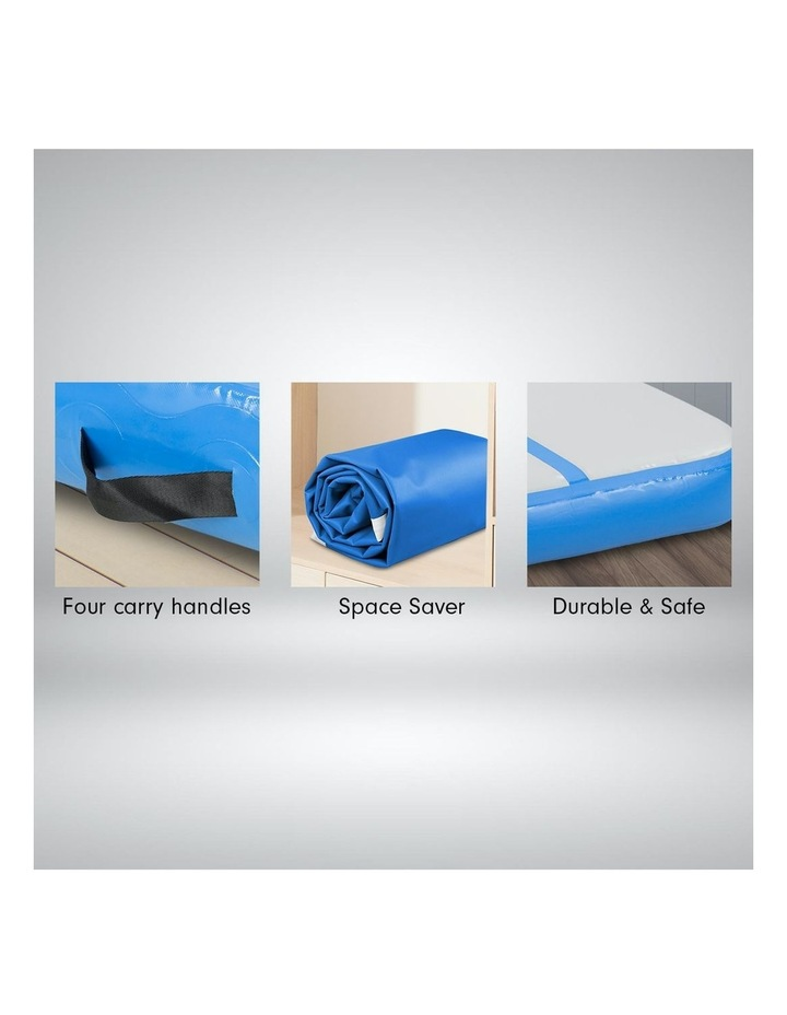 5m Airtrack Tumbling Mat Gymnastics Exercise 20cm Air Track - Blue image 4