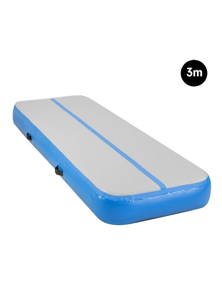 3m Airtrack Tumbling Mat Gymnastics Exercise 20cm Air Track - Blue image 2