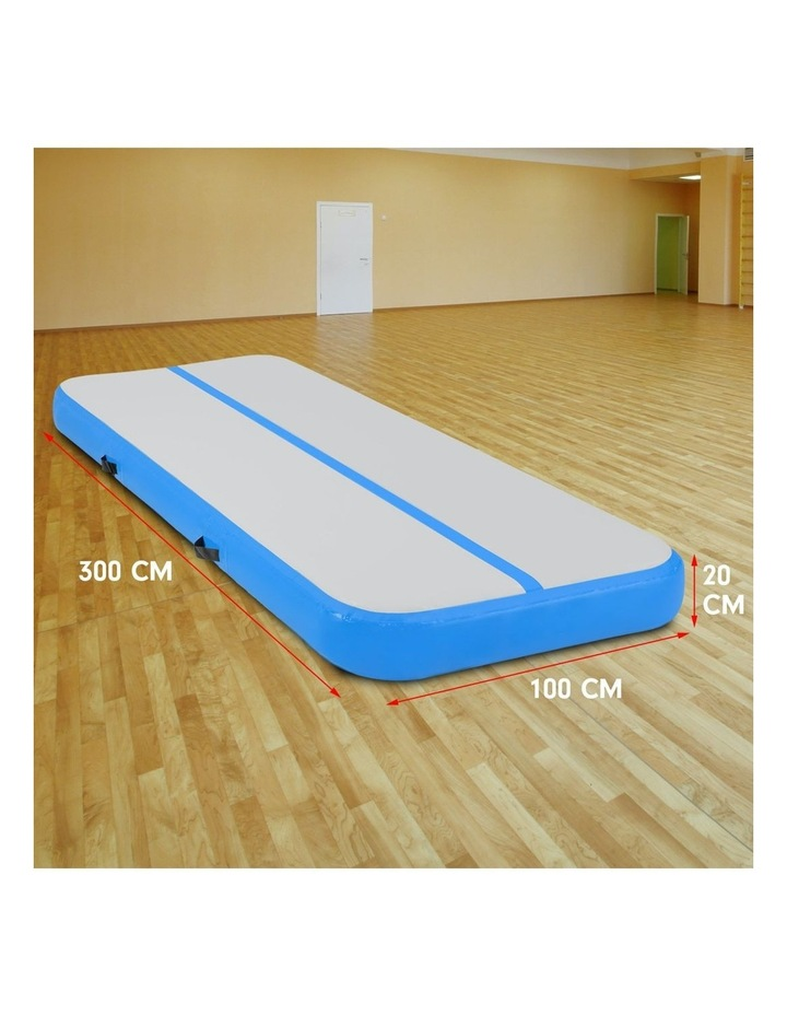 3m Airtrack Tumbling Mat Gymnastics Exercise 20cm Air Track - Blue image 4