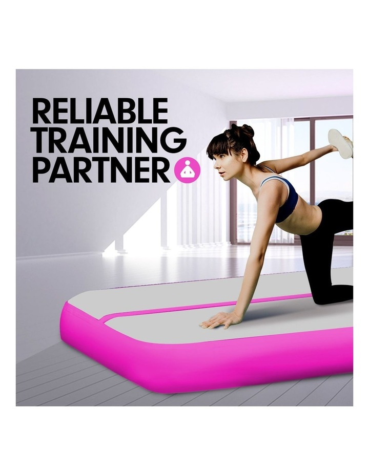 8m Airtrack Tumbling Mat Gymnastics Exercise 20cm Air Track Grey Pink image 3