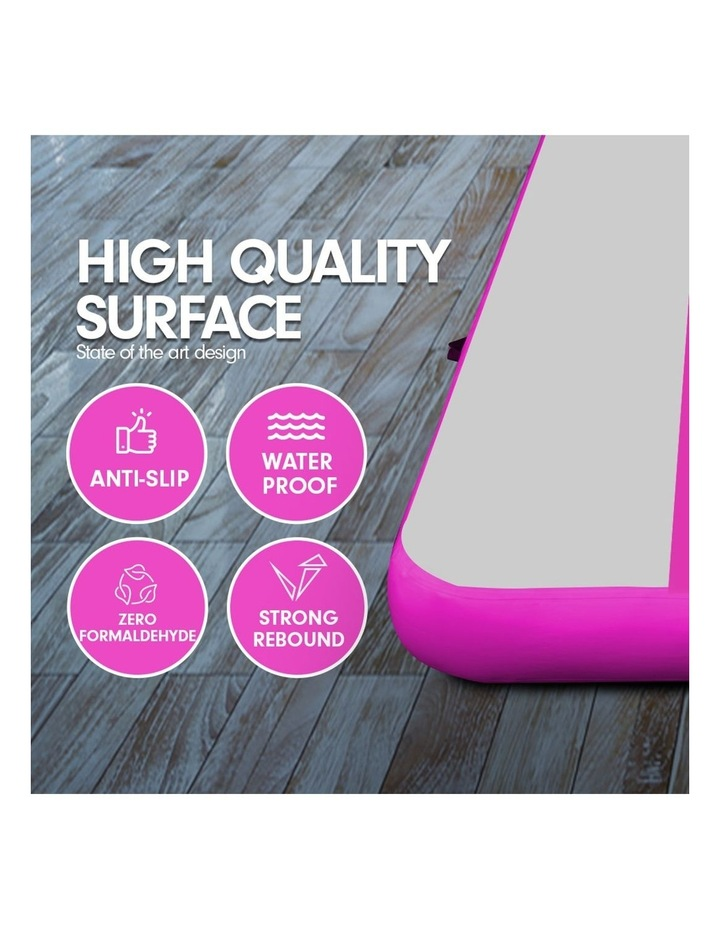 8m Airtrack Tumbling Mat Gymnastics Exercise 20cm Air Track Grey Pink image 4