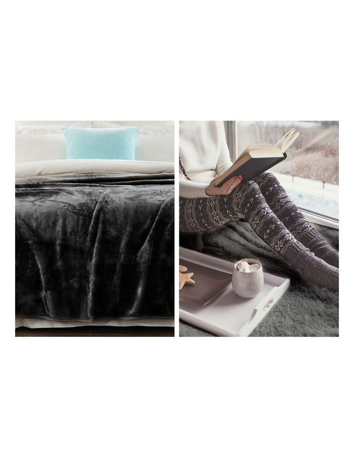 220 X 240cm Mink Blanket Double Sided Queen Soft Plush Bed Faux Throw Rug 800gsm image 5