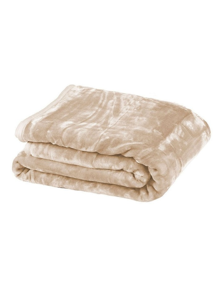 220 X 240cm Mink Blanket Double Sided Queen Soft Plush Bed Faux Throw Rug 800gsm image 1