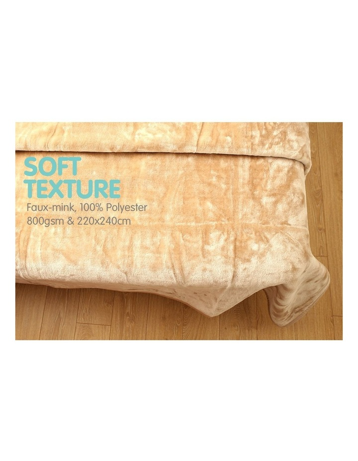 220 X 240cm Mink Blanket Double Sided Queen Soft Plush Bed Faux Throw Rug 800gsm image 4