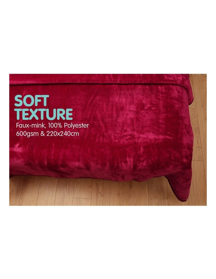 Mink Blanket Double Sided Queen Size Soft Plush Bed Faux Throw Rug 220 X 240cm image 3
