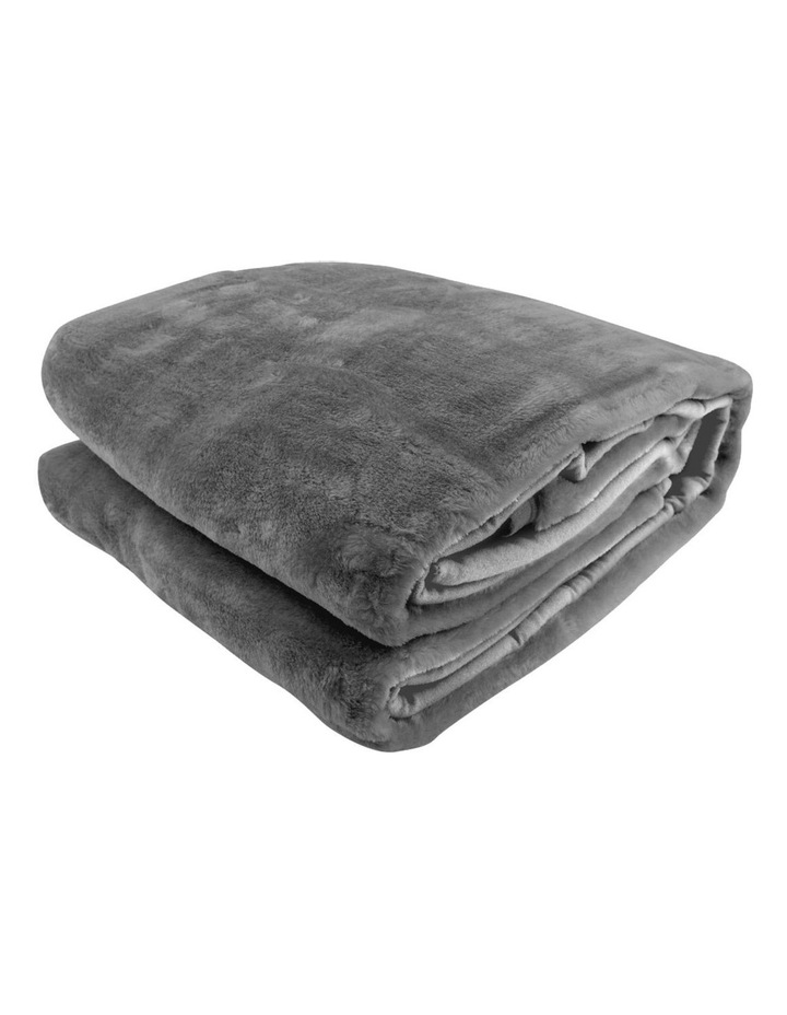 Mink Blanket Double Sided Queen Size Soft Plush Bed Faux Throw Rug 220 X 240cm image 1