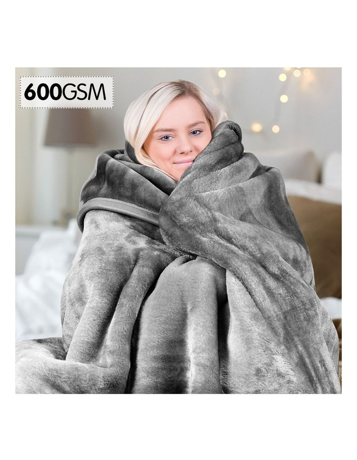 Mink Blanket Double Sided Queen Size Soft Plush Bed Faux Throw Rug 220 X 240cm image 2
