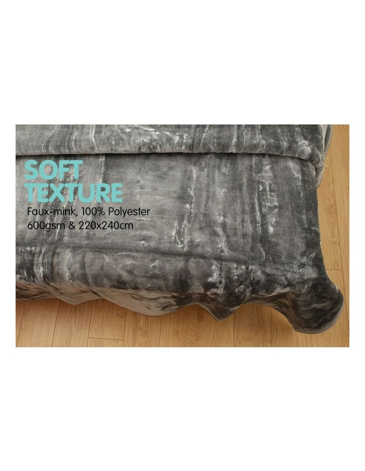 Mink Blanket Double Sided Queen Size Soft Plush Bed Faux Throw Rug 220 X 240cm image 4