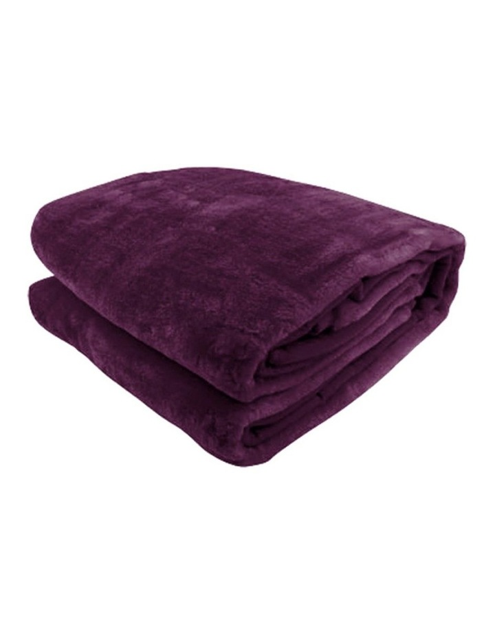 Mink Blanket Throw Purple Double Sided Queen Size Soft Plush Bed Faux Rug image 1