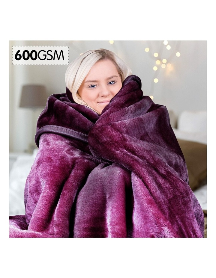 Mink Blanket Throw Purple Double Sided Queen Size Soft Plush Bed Faux Rug image 2