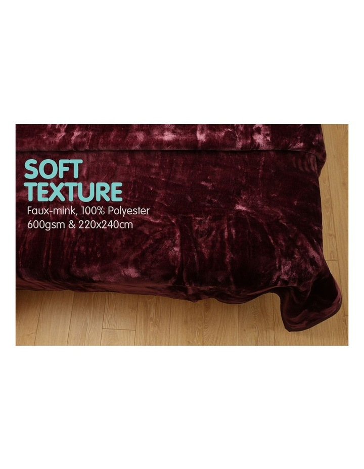 Mink Blanket Throw Purple Double Sided Queen Size Soft Plush Bed Faux Rug image 3