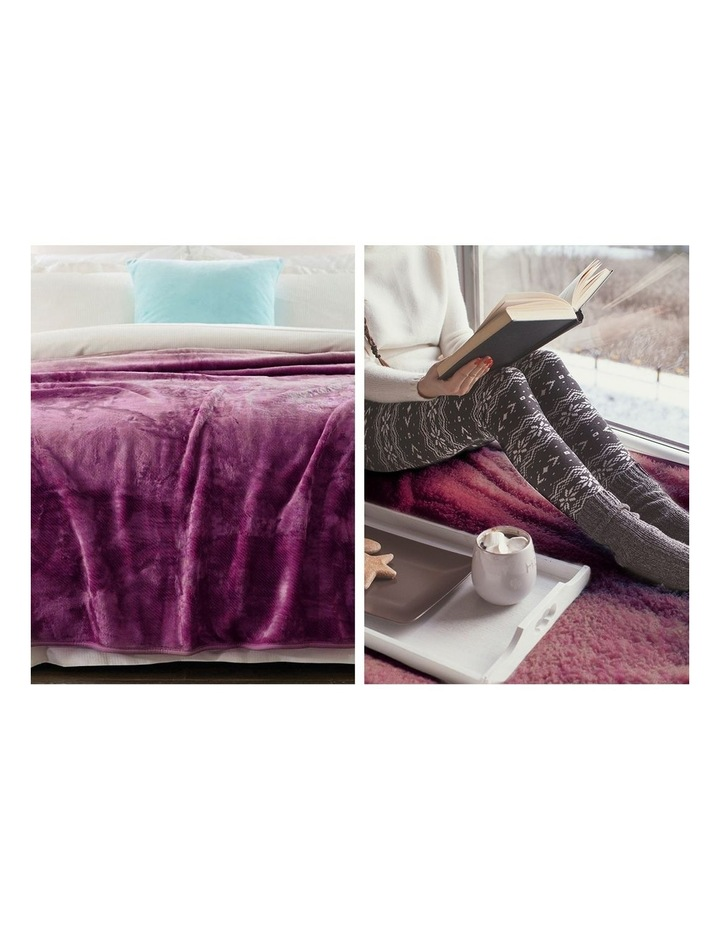 Mink Blanket Throw Purple Double Sided Queen Size Soft Plush Bed Faux Rug image 4
