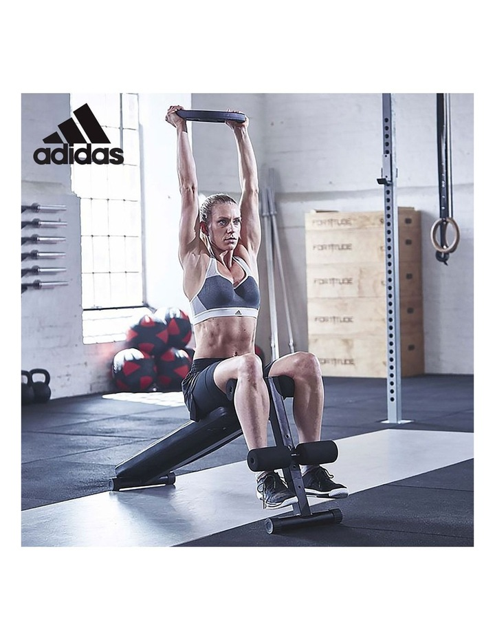 2x 40kg Adjustable Dumbbell Home Gym Exercise Equipment with adidas 10433 bench image 6