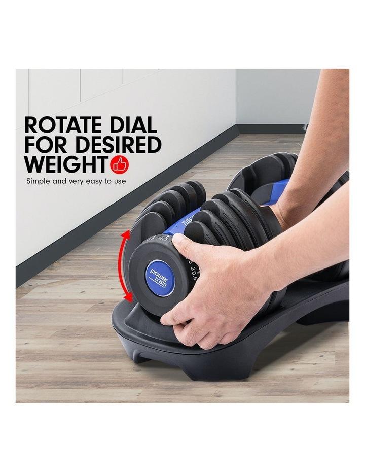 24kg Adjustable Dumbbell w/ Adidas 10433 Bench - Blue image 3