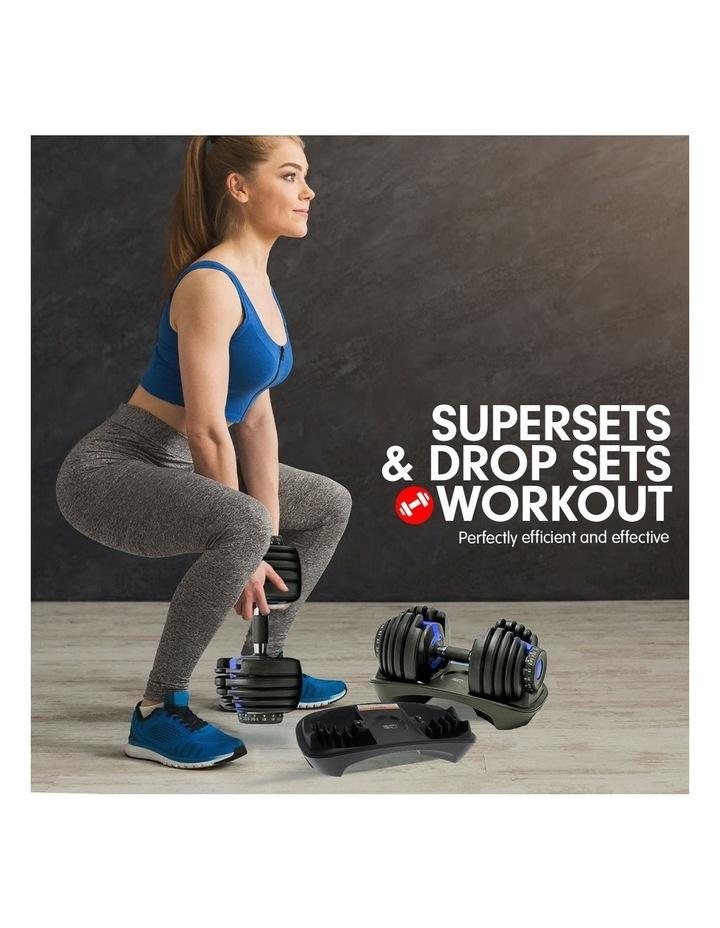 24kg Adjustable Dumbbell w/ Adidas 10433 Bench - Blue image 4