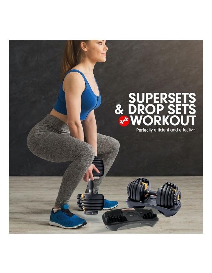 2x 24kg Adjustable Dumbbells with Adidas 10433 Bench - Gold image 4