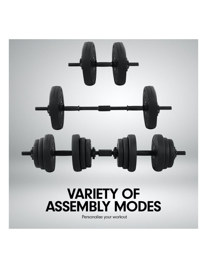 20kg Dumbbell Home w/ Adjustable Adidas 10433 Abs Bench image 6