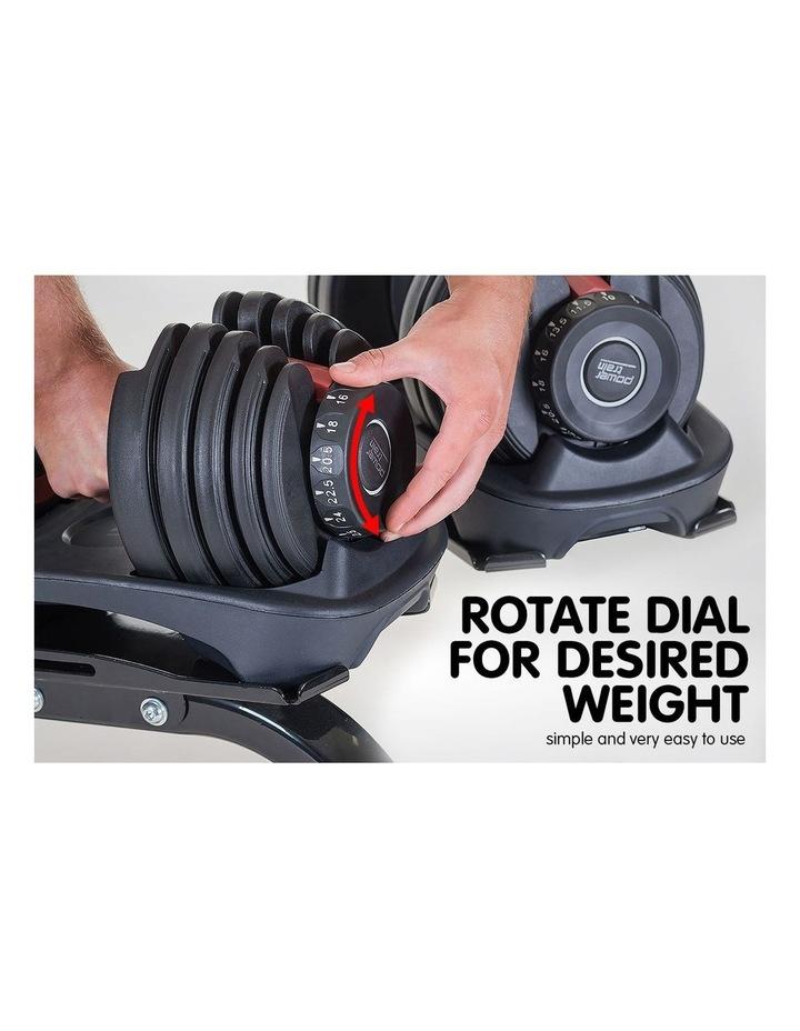 24kg Adjustable Dumbbell w/ Adidas 10436 Exercise Bench image 3