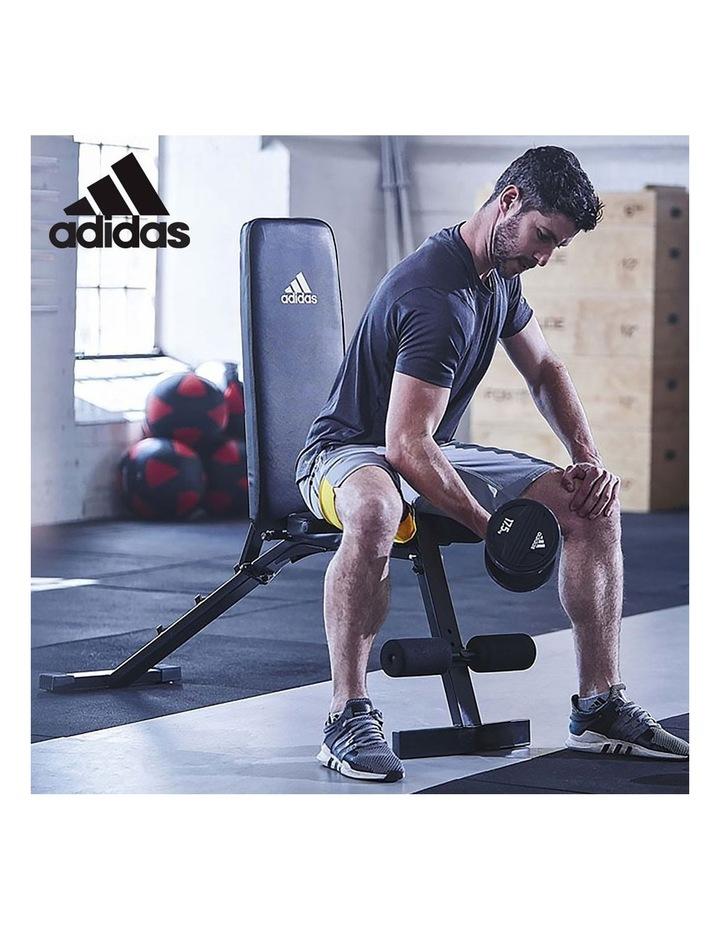 24kg Adjustable Dumbbell w/ Adidas 10436 Exercise Bench image 5