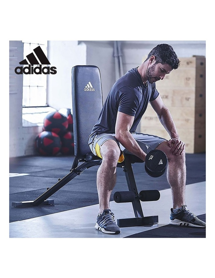 24kg Blue Adjustable Dumbbell Weights w/ Adidas 10436 Adidas Bench image 7