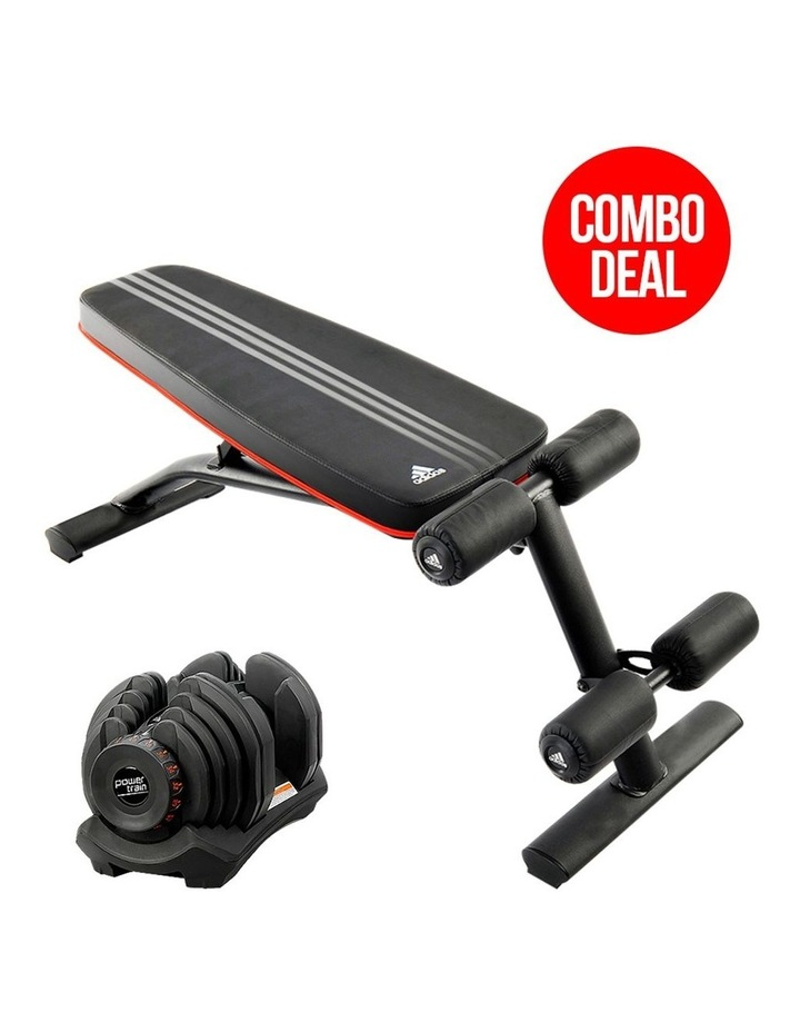 40kg Adjustable Dumbbell Home Gym Exercise Equipment With Weight Bench image 2