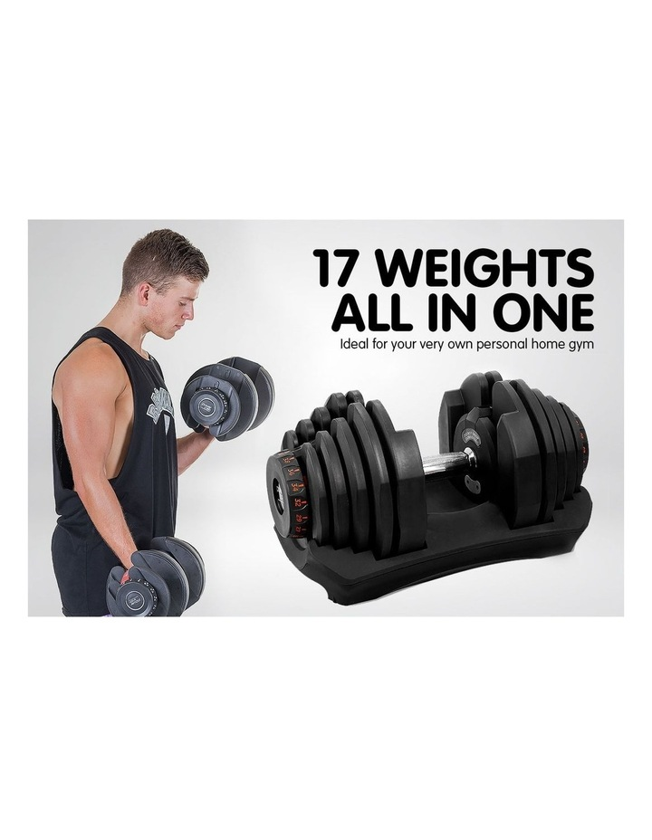 2x 40kg Adjustable Dumbbells and Stand w/ Adidas Bench image 2