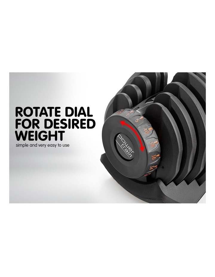 2x 40kg Adjustable Dumbbells and Stand w/ Adidas Bench image 3