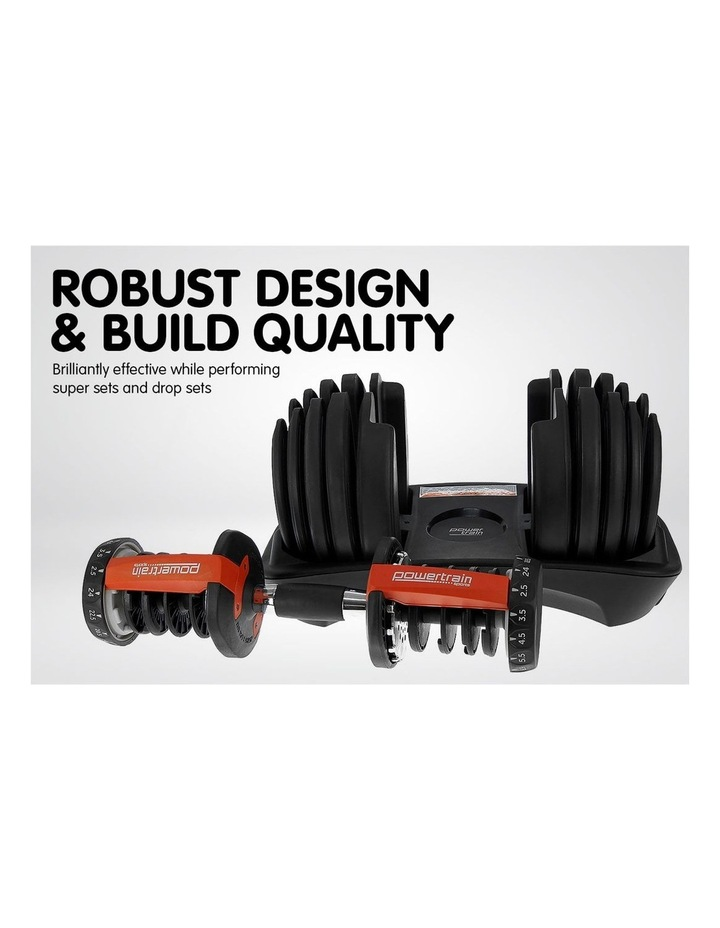2x 24kg Adjustable Dumbbells Weights w/ Stand and Adidas Bench image 7