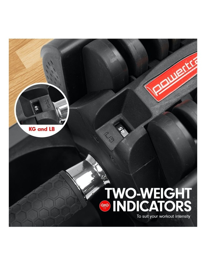 2x 20kg Adjustable Home Gym Dumbbells Weights w/ 10230 Adidas Bench image 3
