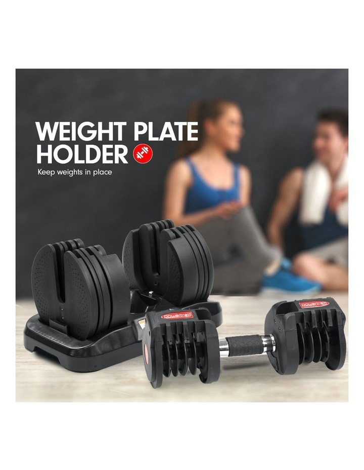 2x 20kg Adjustable Home Gym Dumbbells Weights w/ 10230 Adidas Bench image 4