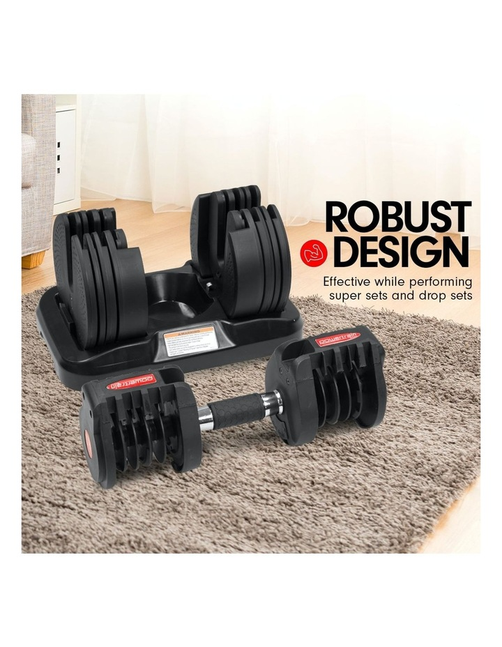 2x 20kg Adjustable Home Gym Dumbbells Weights w/ 10230 Adidas Bench image 5