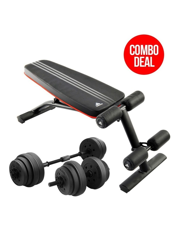 20kg Dumbbell Home w/ Adjustable Adidas 10230 Bench Weights image 2