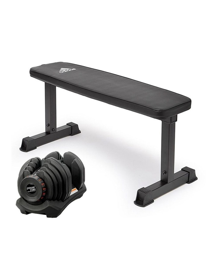 40kg Adjustable Dumbbell  Home Gym Weights w/ Adidas Bench 10437 image 1