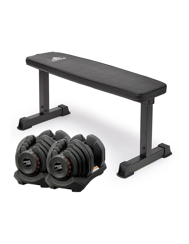 2x 40kg Adjustable Dumbbells  Weights Home Gym w/10437 Adidas Bench image 1