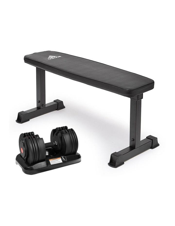 20kg Adjustable Dumbbell Set with Adidas 10437 Gym Bench image 1