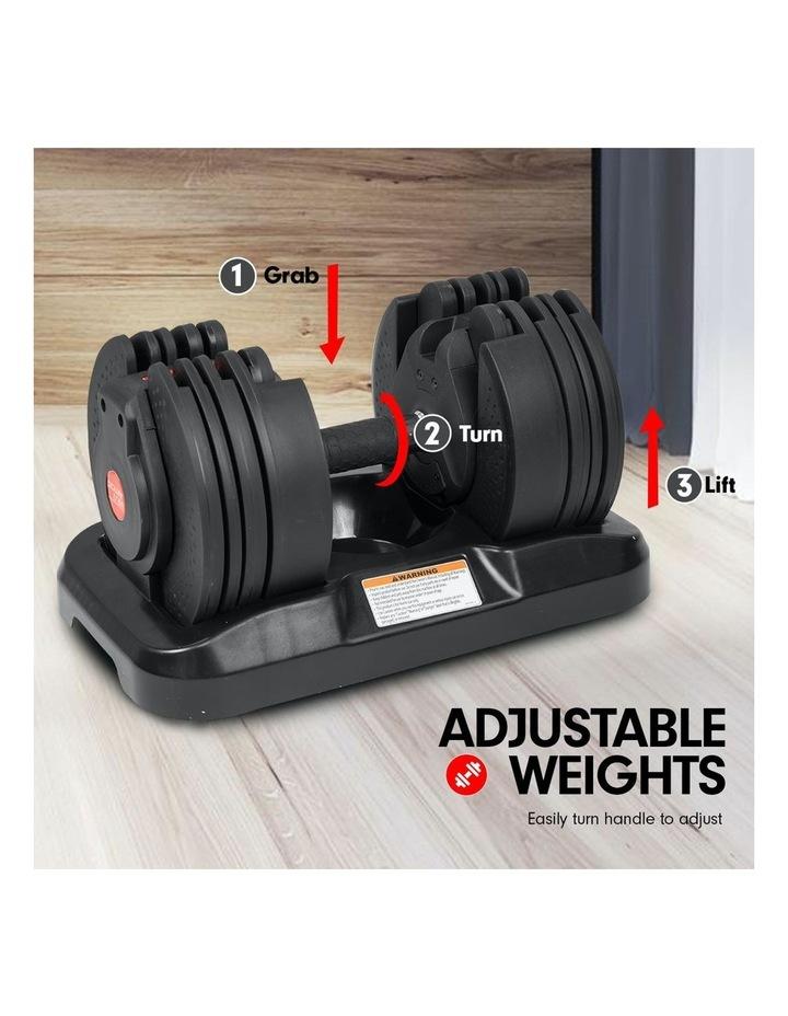 20kg Adjustable Dumbbell Set with Adidas 10437 Gym Bench image 5