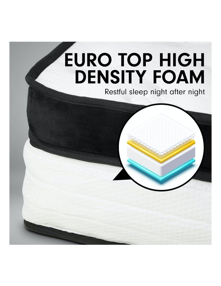 Double Mattress Bed Size Euro Top 5 Zone Spring Foam 32cm image 7