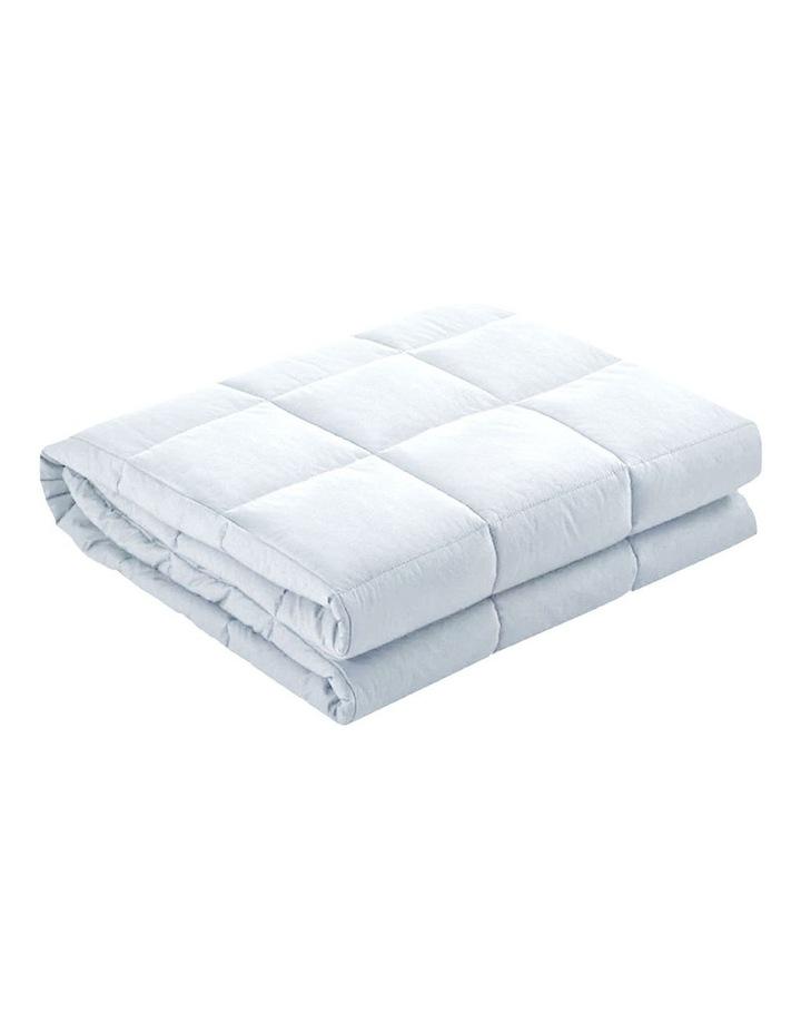Laura Hill Weighted Blanket Heavy Kids Qulit Doona 5Kg - White image 1