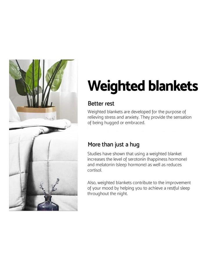 Laura Hill Weighted Blanket Heavy Kids Qulit Doona 5Kg - White image 3