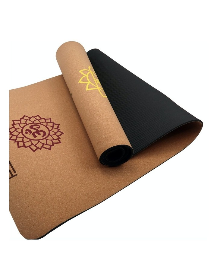 Cork Yoga Exercise Mat Eco Friendly Home Gym Pilates Floor Fitness 6mm Thick image 1