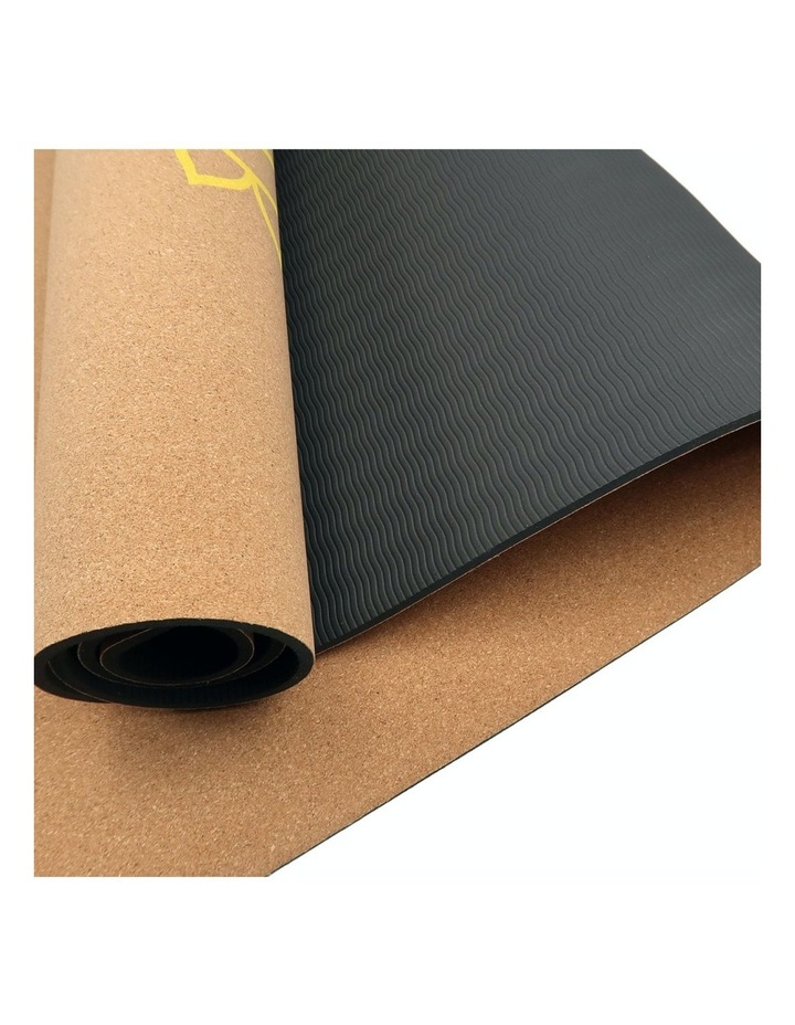 Cork Yoga Exercise Mat Eco Friendly Home Gym Pilates Floor Fitness 6mm Thick image 3
