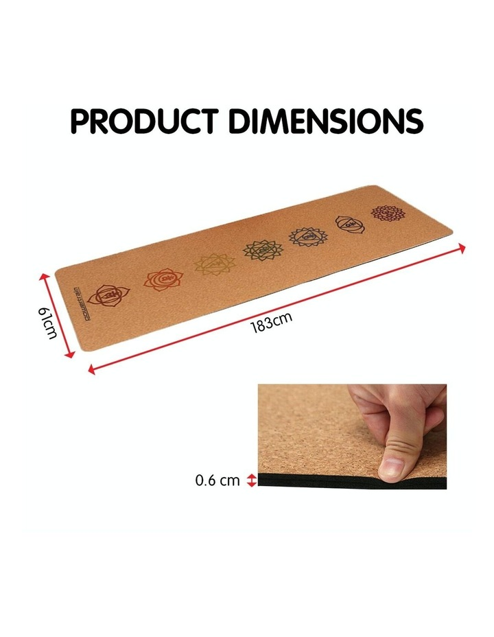 Cork Yoga Exercise Mat Eco Friendly Home Gym Pilates Floor Fitness 6mm Thick image 4