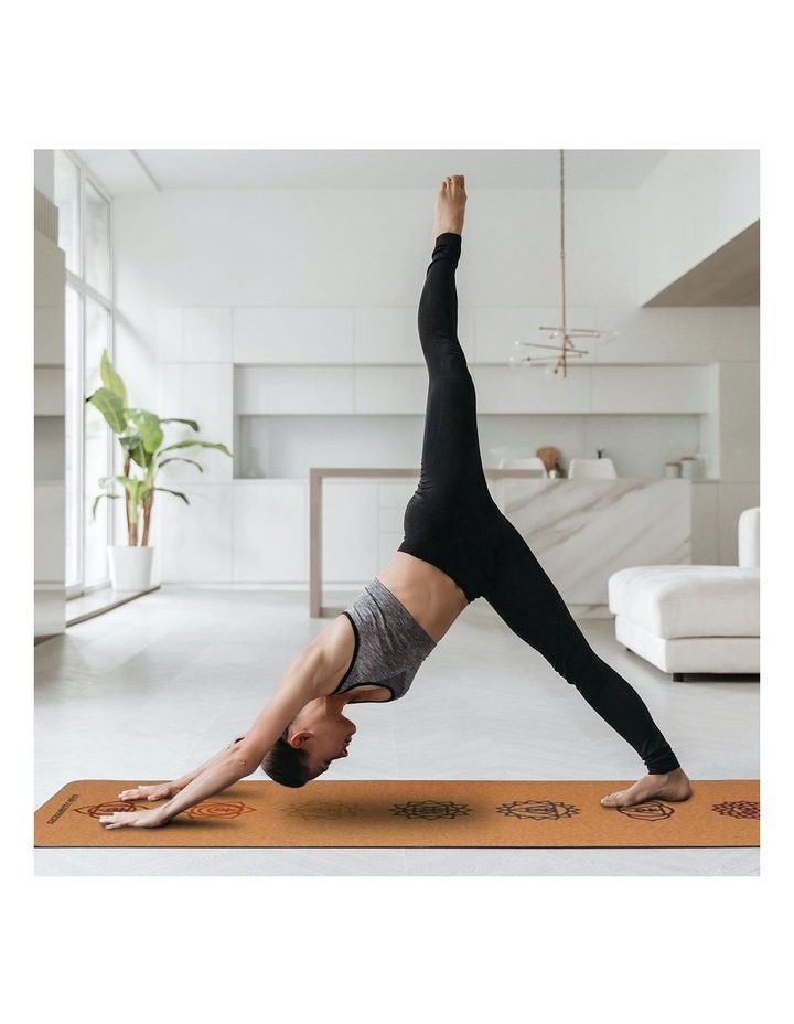 Cork Yoga Exercise Mat Eco Friendly Home Gym Pilates Floor Fitness 6mm Thick image 5